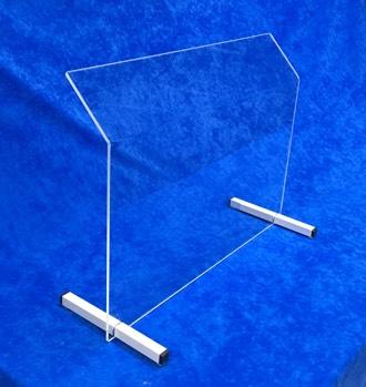 Spuckschutz schraege vierkant 340
