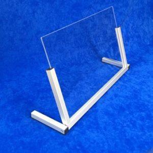 klappbarer mobiler Spuckschutz aus Acrylglas und Alu